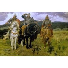 Картина на холсте по фото Модульные картины Печать портретов на холсте Три Богатыря