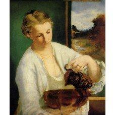 Картина на холсте по фото Модульные картины Печать портретов на холсте Женщина с кувшином
