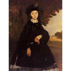 Картина на холсте по фото Модульные картины Печать портретов на холсте Портрет Мадам Брюне