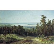 Картина на холсте по фото Модульные картины Печать портретов на холсте Кама близ Елабуги