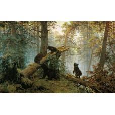 Картина на холсте по фото Модульные картины Печать портретов на холсте Утро в сосновом лесу