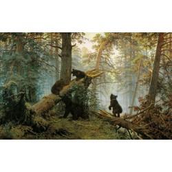 Утро в сосновом лесу - Модульная картины, Репродукции, Декоративные панно, Декор стен