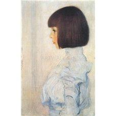 Картина на холсте по фото Модульные картины Печать портретов на холсте Портрет Елены Климт