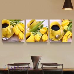 Фото на холсте Печать картин Репродукции и портреты - Желтые тюльпаны