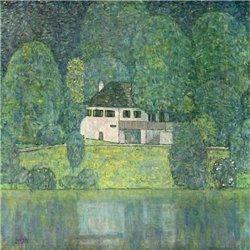 Маленький дом на Аттерзее - Модульная картины, Репродукции, Декоративные панно, Декор стен