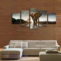 Портреты картины репродукции на заказ - Слон на дороге