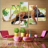 Портреты картины репродукции на заказ - Ягуар на дереве