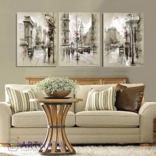 Картина на холсте по фото Модульные картины Печать портретов на холсте Сказочный город