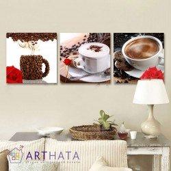 Утренний кофе - Модульная картины, Репродукции, Декоративные панно, Декор стен
