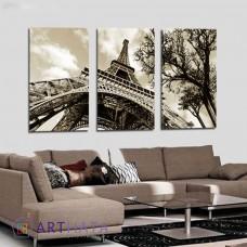 Картина на холсте по фото Модульные картины Печать портретов на холсте Эйфелева башня