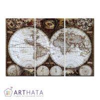 Портреты картины репродукции на заказ - Карта мира