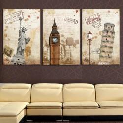 Столицы мира - Модульная картины, Репродукции, Декоративные панно, Декор стен