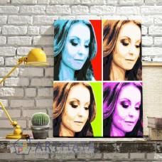 Картина на холсте по фото Модульные картины Печать портретов на холсте Цветные квадраты