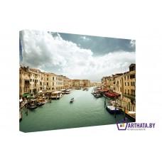 Картина на холсте по фото Модульные картины Печать портретов на холсте Каналы Венеции