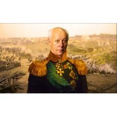 Картина на холсте по фото Модульные картины Печать портретов на холсте В образе генерала