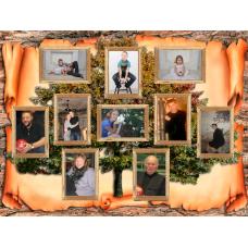 Картина на холсте по фото Модульные картины Печать портретов на холсте Старинный коллаж