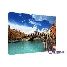 Картина на холсте по фото Модульные картины Печать портретов на холсте Венеция-голубые воды