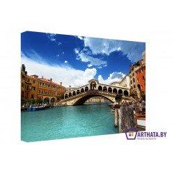 Венеция-голубые воды - Модульная картины, Репродукции, Декоративные панно, Декор стен