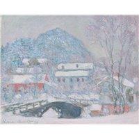 Норвегия, деревня Сандвикен в снегу