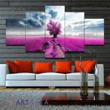 Картина на холсте по фото Модульные картины Печать портретов на холсте Красное дерево