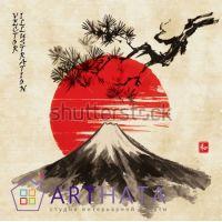 Портреты картины репродукции на заказ - Японские мотивы