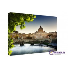 Картина на холсте по фото Модульные картины Печать портретов на холсте Краски Рима