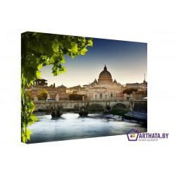 Фото на холсте Печать картин Репродукции и портреты - Краски Рима