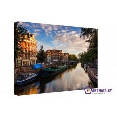Картина на холсте по фото Модульные картины Печать портретов на холсте Амстердам под облаками