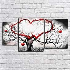 Картина на холсте по фото Модульные картины Печать портретов на холсте Модульная картина - Ветви