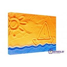 Картина на холсте по фото Модульные картины Печать портретов на холсте Пляжное настроение