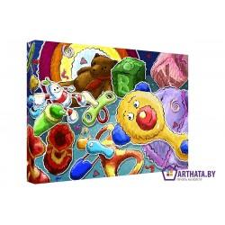 Игровая комната  - Модульная картины, Репродукции, Декоративные панно, Декор стен