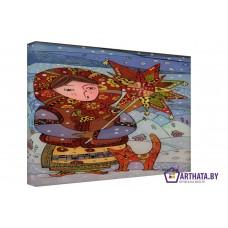 Картина на холсте по фото Модульные картины Печать портретов на холсте Масленица