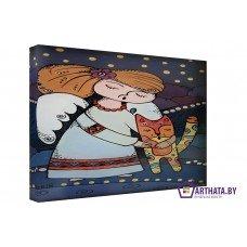 Картина на холсте по фото Модульные картины Печать портретов на холсте Спи котенок