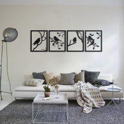 """Панно """"Птицы"""" - Модульная картины, Репродукции, Декоративные панно, Декор стен"""