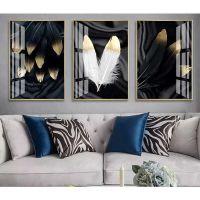 Портреты картины репродукции на заказ - Золотые перья