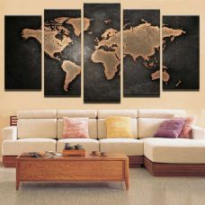 Картина на холсте по фото Модульные картины Печать портретов на холсте Карта мира - Картина