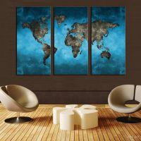 Портреты картины репродукции на заказ - Модульная картина - Карта мира на стену