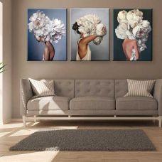 Картина на холсте по фото Модульные картины Печать портретов на холсте Эмми Джудд - Мысли в цветах