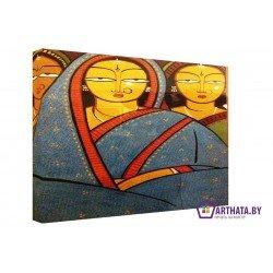 Женщины Индии  - Модульная картины, Репродукции, Декоративные панно, Декор стен