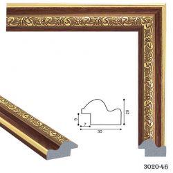 193030 Багет пластиковый 3020-46 - Модульная картины, Репродукции, Декоративные панно, Декор стен