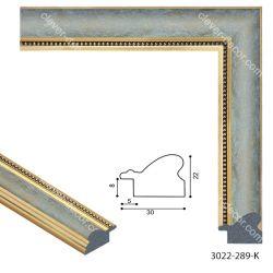 193060 Багет пластиковый 3022-289-K - Модульная картины, Репродукции, Декоративные панно, Декор стен