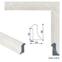 193053 Багет пластиковый 3446-278-K - Модульная картины, Репродукции, Декоративные панно, Декор стен