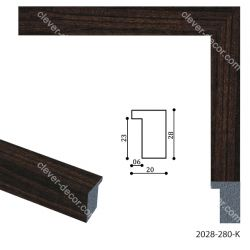 192077 Багет пластиковый 2028-280-K - Модульная картины, Репродукции, Декоративные панно, Декор стен