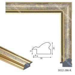 193047 Багет пластиковый 3022-286-K - Модульная картины, Репродукции, Декоративные панно, Декор стен