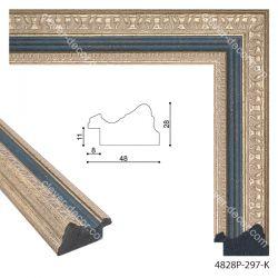 194038 Багет пластиковый 4828P-297-K - Модульная картины, Репродукции, Декоративные панно, Декор стен