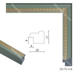 192096 Багет пластиковый 2017N-518 - Модульная картины, Репродукции, Декоративные панно, Декор стен