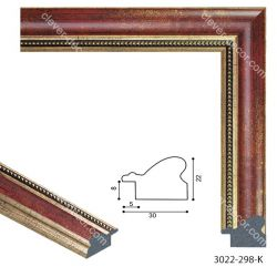 193065 Багет пластиковый 3022-298-K - Модульная картины, Репродукции, Декоративные панно, Декор стен