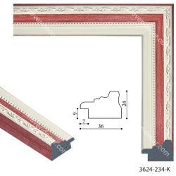 193074 Багет пластиковый 3624-234-K-S - Модульная картины, Репродукции, Декоративные панно, Декор стен