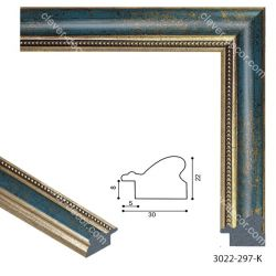 193064 Багет пластиковый 3022-297-K - Модульная картины, Репродукции, Декоративные панно, Декор стен