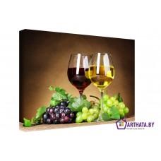 Картина на холсте по фото Модульные картины Печать портретов на холсте Бокалы вина